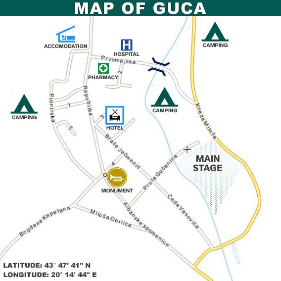 Map Of Guca